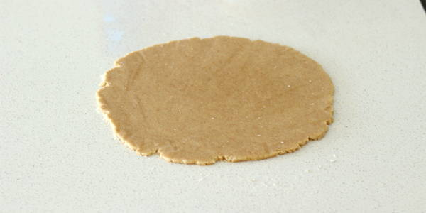 eggless whole wheat biscuits roll the dough