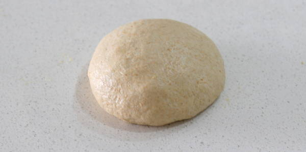 eggless whole wheat bread dough is ready