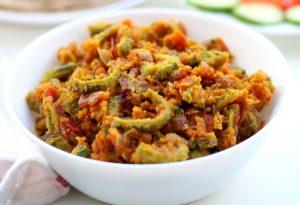 Karela Besan Sabzi Recipe (Indian bitter gourd curry)