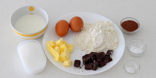 chocolate pound cake step 1