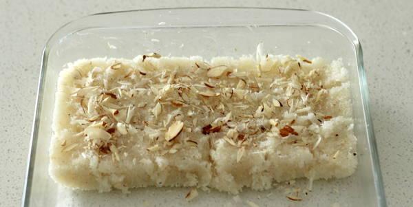 cococnut burfi recipe ready