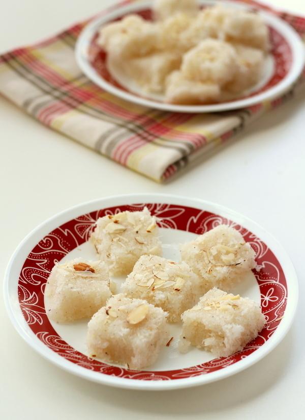 easy coconut burfi recipe