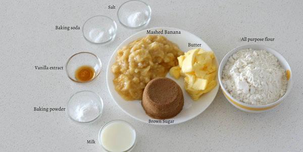 eggless banana cake recipe ingredients
