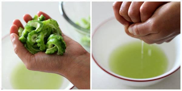 karela besan ki sabzi squeez water