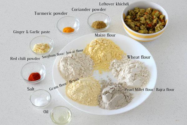 leftover khichdi paratha recipe ingredients