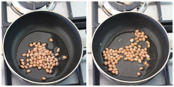 masala puffed rice roasting peanuts