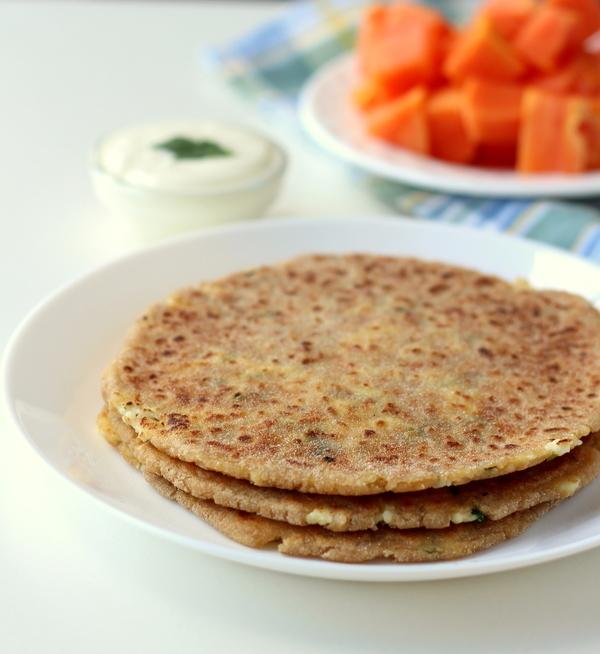 rajgira paneer paratha gluten free recipe
