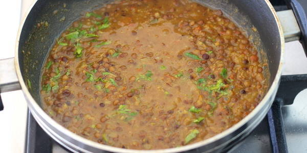 sabut masoor dal recipe ready