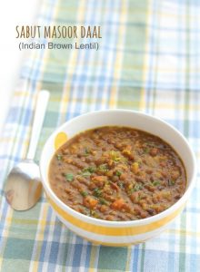 sabut masoor dal recipe step by step