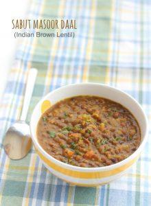 sabut masoor dal recipe step by step