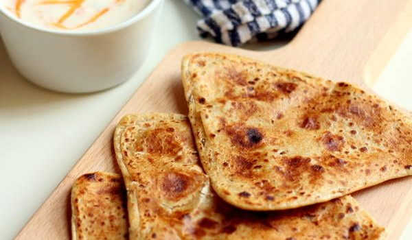 jeera paratha with raita recipe